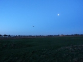 Moon, plane and no Barn Owl