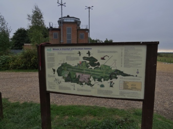 Information board by the Contrl Tower