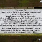 Plaque on bridge at Og St A.